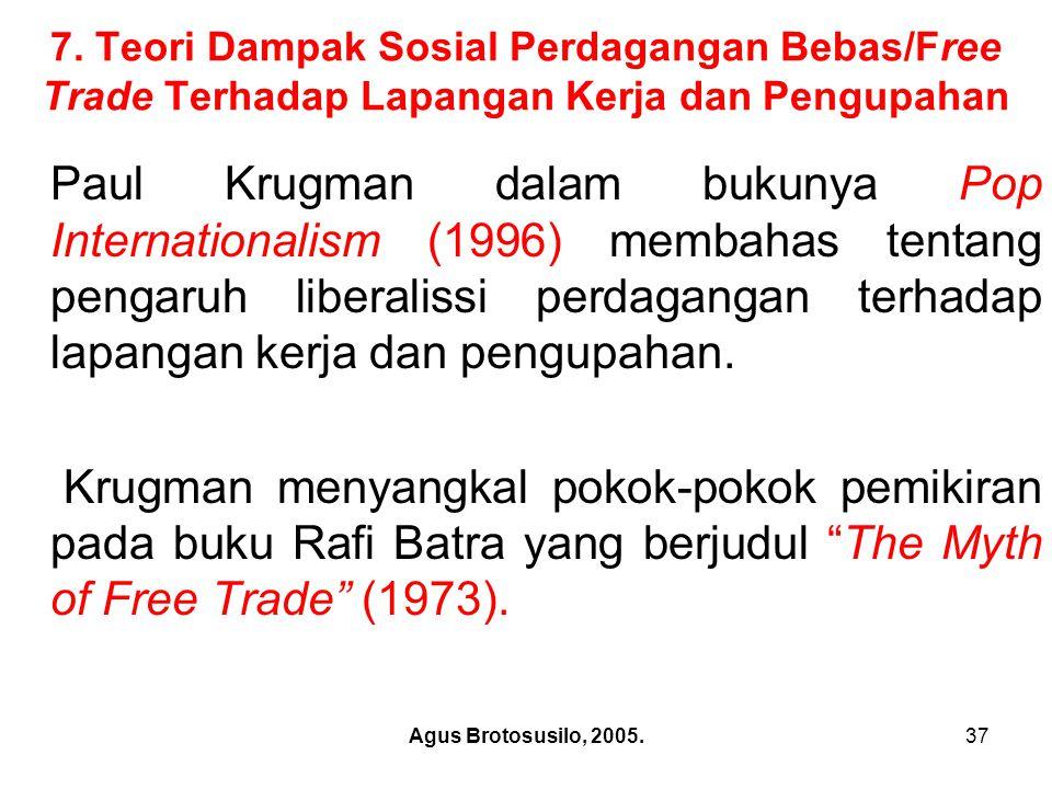 Agus Brotosusilo, 2005.38 Paul Krugman: Pop Internationalism,1996.