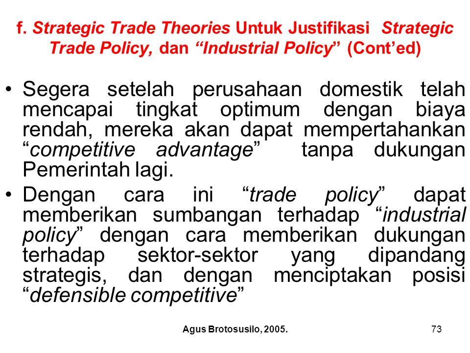 Agus Brotosusilo, 2005.74 2.Free Trade dan Kualitas Hidup a).