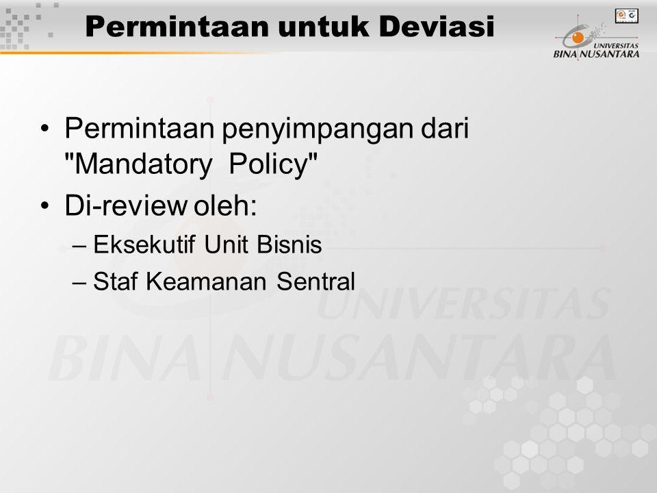 Permintaan untuk Deviasi Permintaan penyimpangan dari