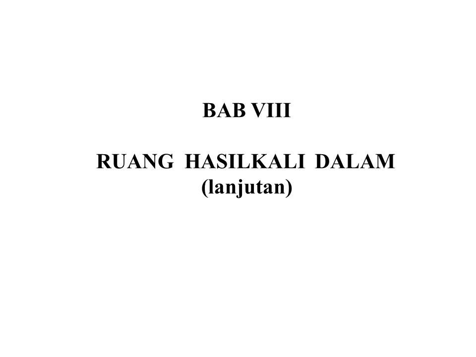 BAB VIII RUANG HASILKALI DALAM (lanjutan)