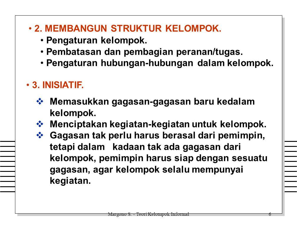 Margono S.- Teori Kelompok Informal16 TINGKAT KEKUASAAN : 1.