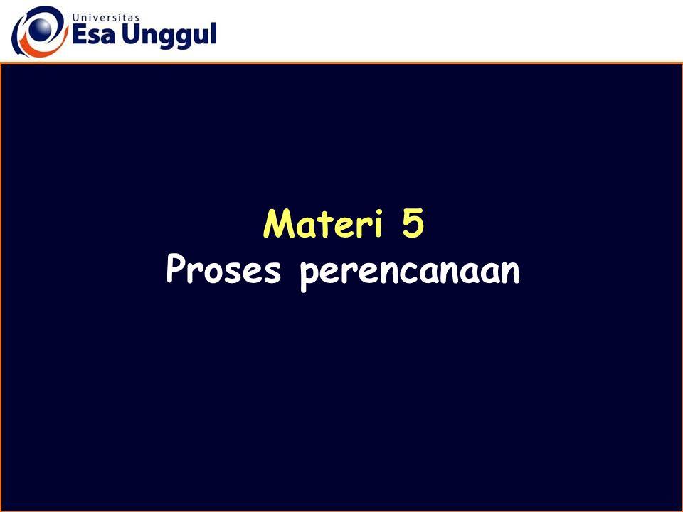 Materi 5 Proses perencanaan