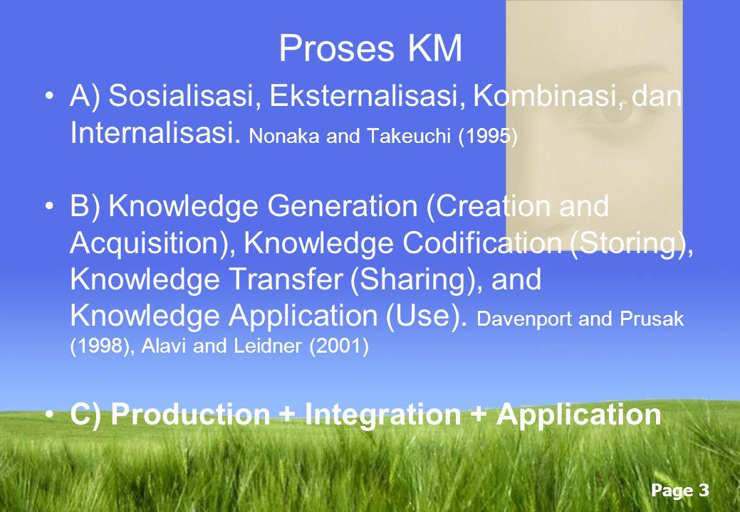 Page 2 Taksonomi Knowledge Tacit Knowledge Explicit Knowledge FaktorTacitExplicit Kemampuan di transfer Susah, Lambat, Perlu biaya dan tidak tentu Leb