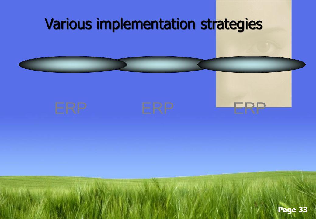 Page 32 ERP E-SellE-Buy ERP E-SellE-Buy ERP E-Sell E-Buy ERP E-SellE-Buy Various implementation strategies