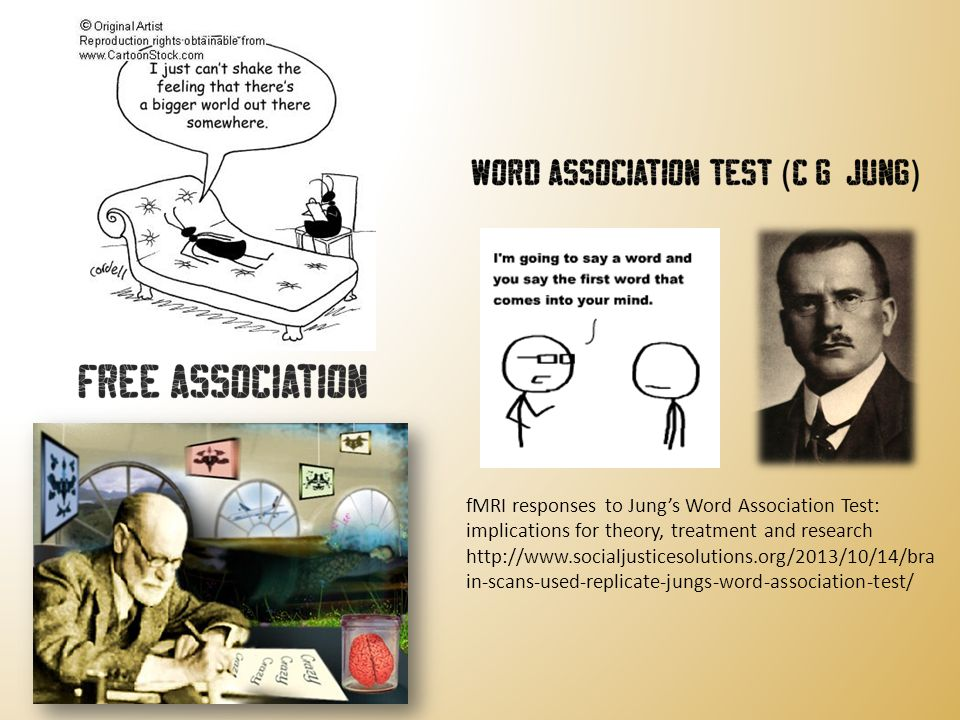 fMRI responses to Jung's Word Association Test: implications for theory, treatment and research http://www.socialjusticesolutions.org/2013/10/14/bra i