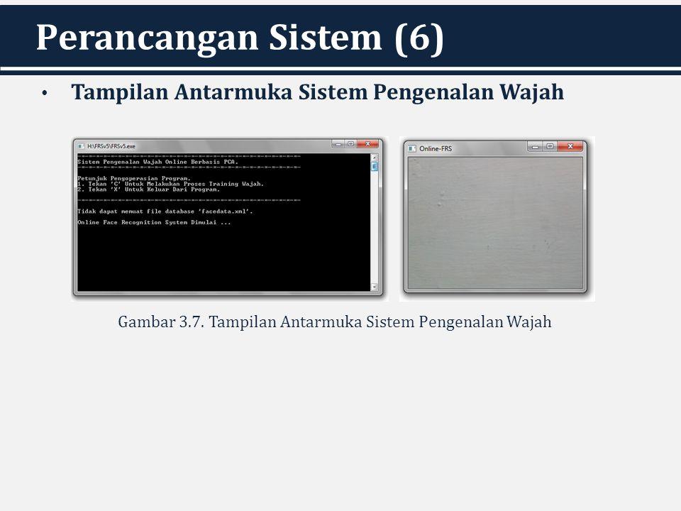 Perancangan Sistem (6) Tampilan Antarmuka Sistem Pengenalan Wajah Gambar 3.7. Tampilan Antarmuka Sistem Pengenalan Wajah