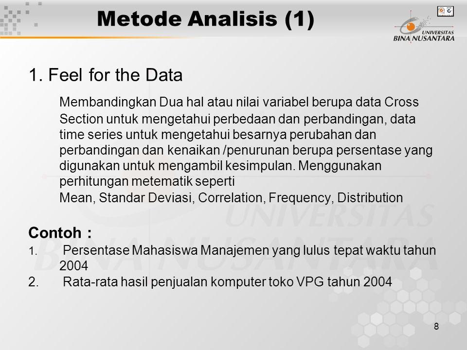 8 Metode Analisis (1) 1.