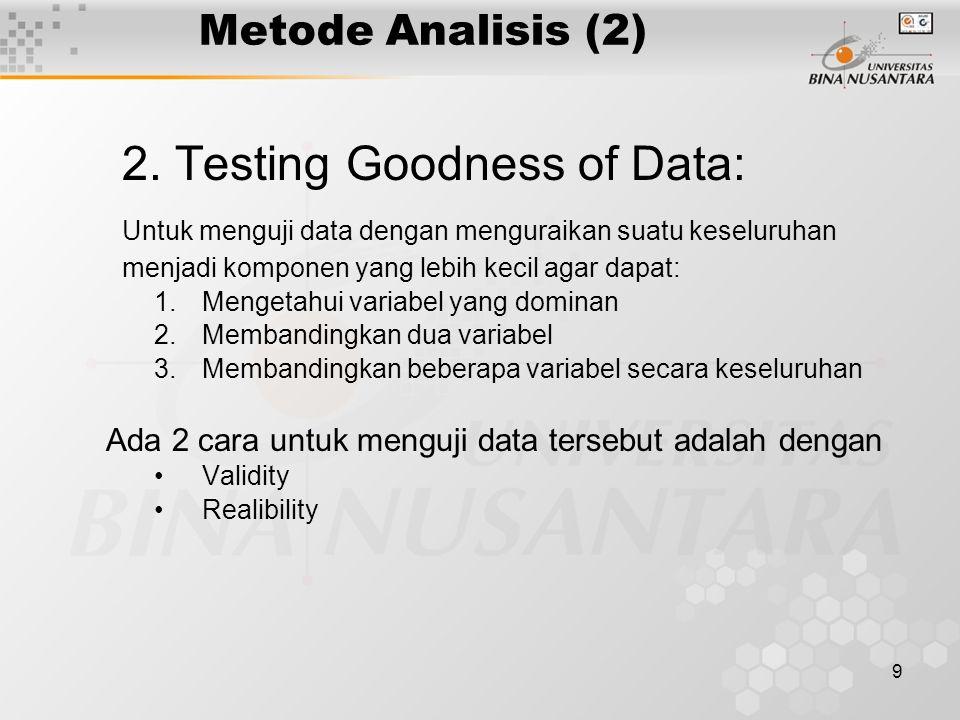 9 Metode Analisis (2) 2.