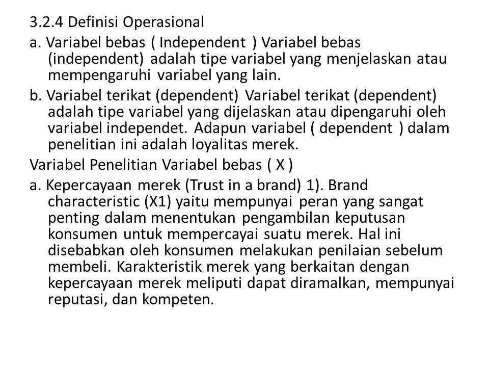 3.2.4 Definisi Operasional a.