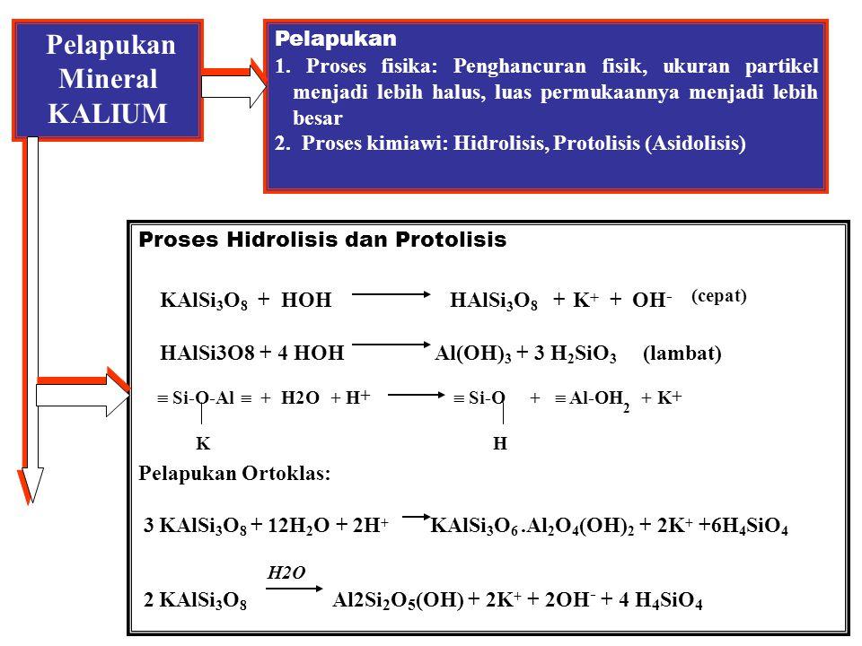 Kandungan K- tanah vs Respon pupuk K H Tambahan hasil jagung, bu/ac 25 K dd = 50 ppm K dd = 100 ppm K dd = 150 ppm K dd = 200 ppm 25 50 75 100 125 Dosis pupuk K ( lb / ac ) Sumber: Hanway et al.