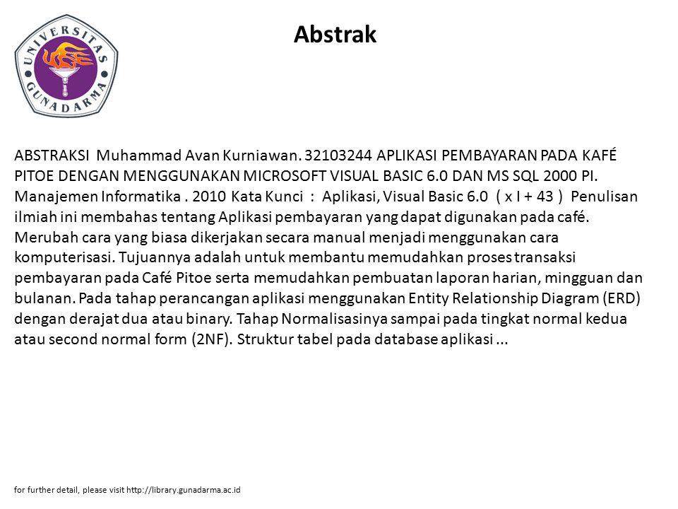 Abstrak ABSTRAKSI Muhammad Avan Kurniawan.