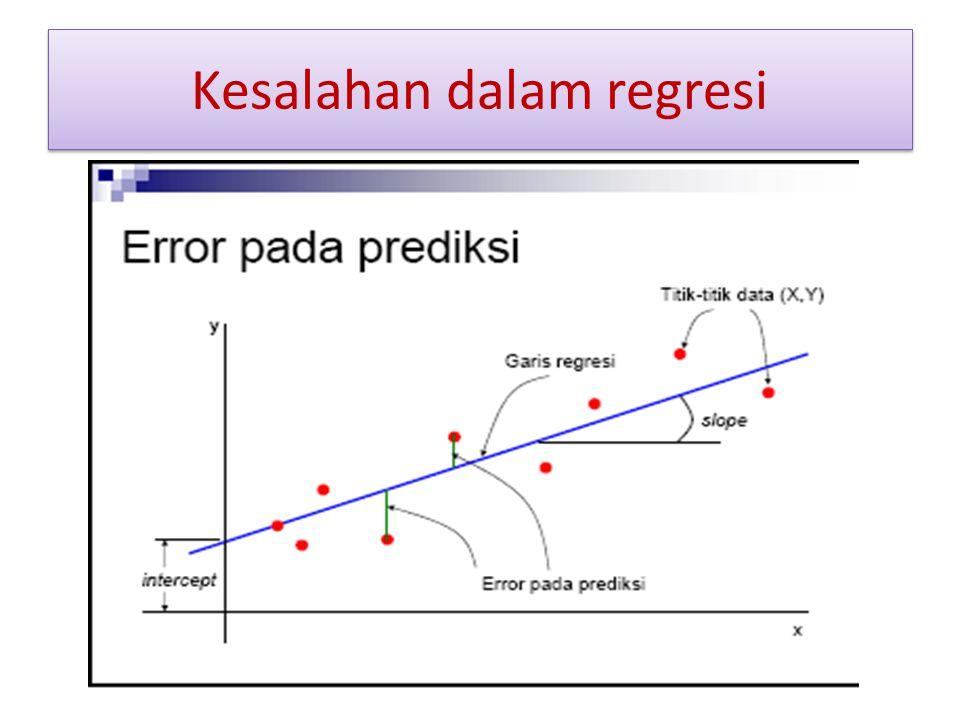 Kesalahan dalam regresi