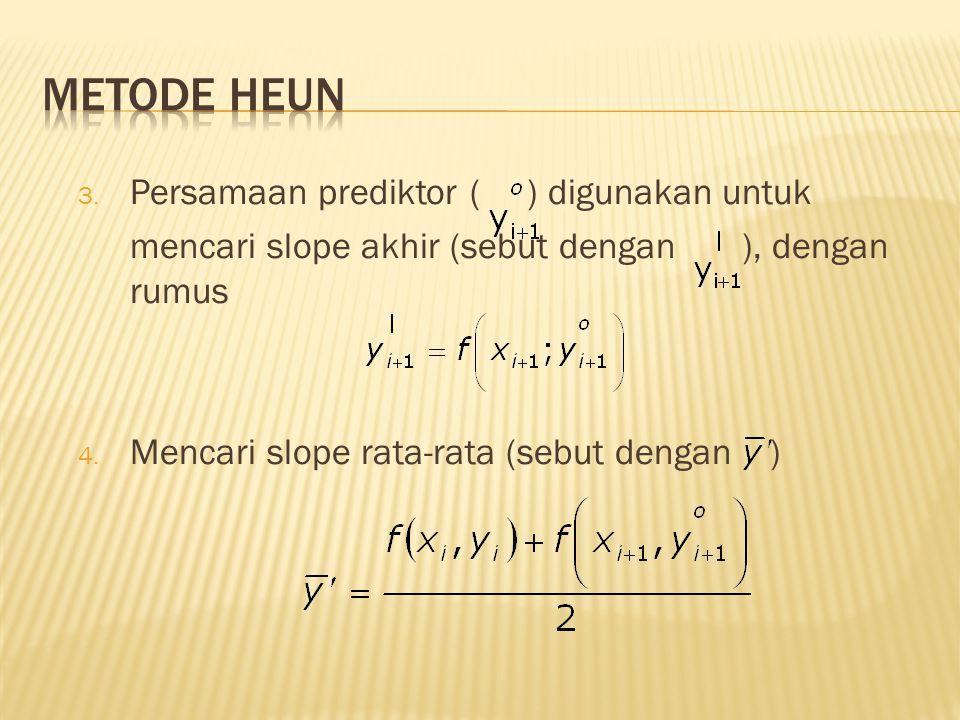 3.Persamaan prediktor ( ) digunakan untuk mencari slope akhir (sebut dengan ), dengan rumus 4.