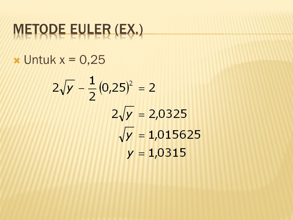  Untuk x = 0,25