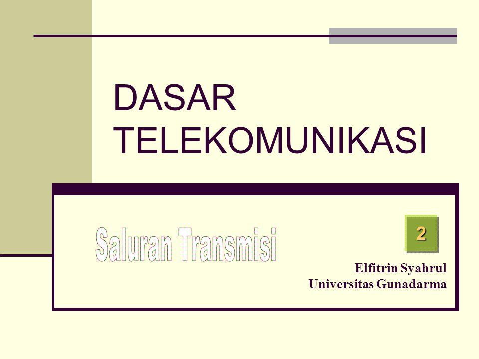 2 Elfitrin Syahrul Universitas Gunadarma DASAR TELEKOMUNIKASI
