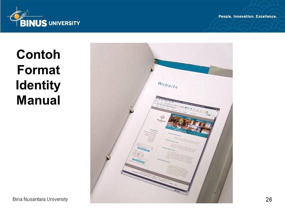 Bina Nusantara University 26 Contoh Format Identity Manual