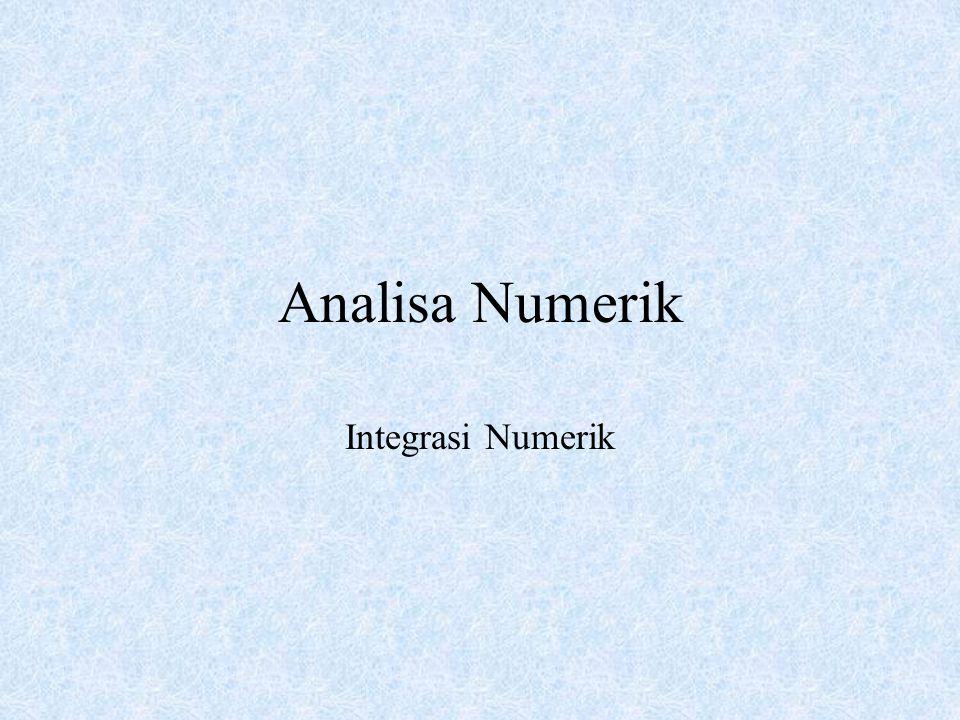 Analisa Numerik Integrasi Numerik