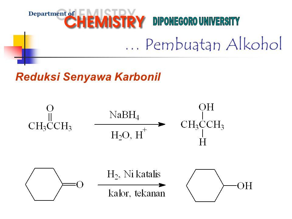 … Pembuatan Alkohol Reduksi Senyawa Karbonil