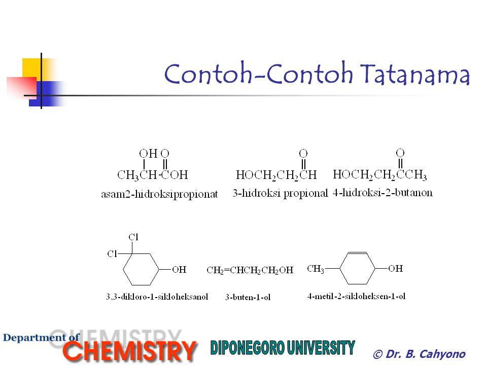 EterNamaTitik didihalkoholTitik didih CH 3 OCH 3 Dimetil eter-23CH 3 CH 2 OH78,5 CH 3 OCH 2 CH 3 Etil metil eter 10,8CH 3 CH 2 CH 2 OH82,4 CH 3 CH 2 OCH 2 CH 3 Dietil eter34,5CH 3 (CH 2 ) 3 OH117,3 (CH 3 CH2CH 2 CH 2 ) 2 ODibutil eter142CH 3 (CH 2 ) 7 OH194,5