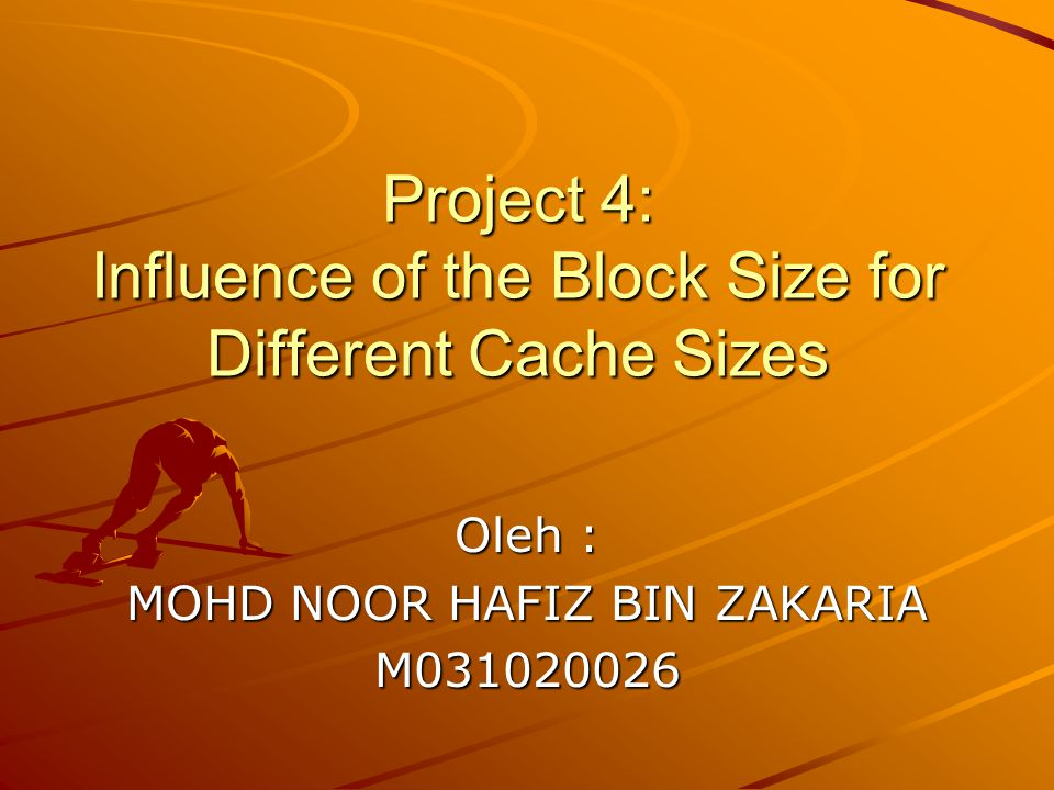 Show the influence of the block size on the miss rate, but in this case, for several cache sizes.