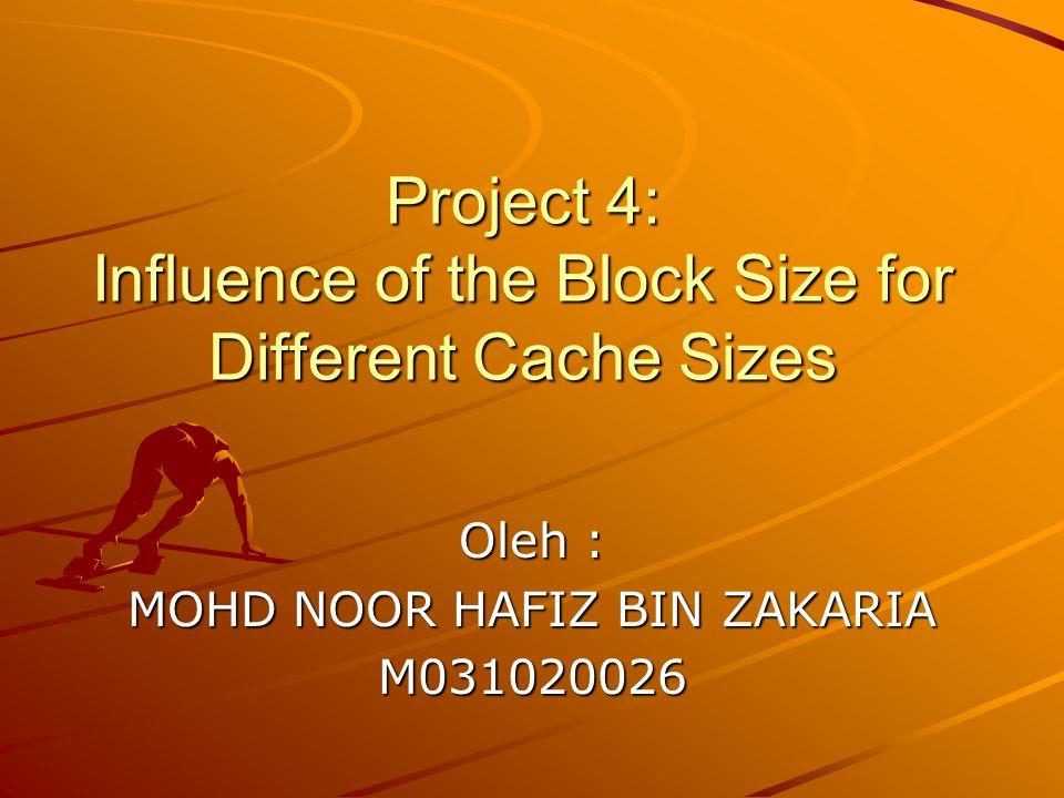Word by block Cache Size (Kb) 481632 1615.3178.766.06636.0475 329.7027.633.84333.824 646.5375.1242.3922.336 1285.1434.1072.261.469 2569.0053.42882.4681.055 51214.3756.2732.7311.582 102438.09313.9225.6332.378 Hasil Penelitian