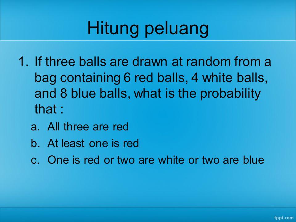 Peubah acak diskret 2.Suatu random-experiment berupa tossing dua dadu.