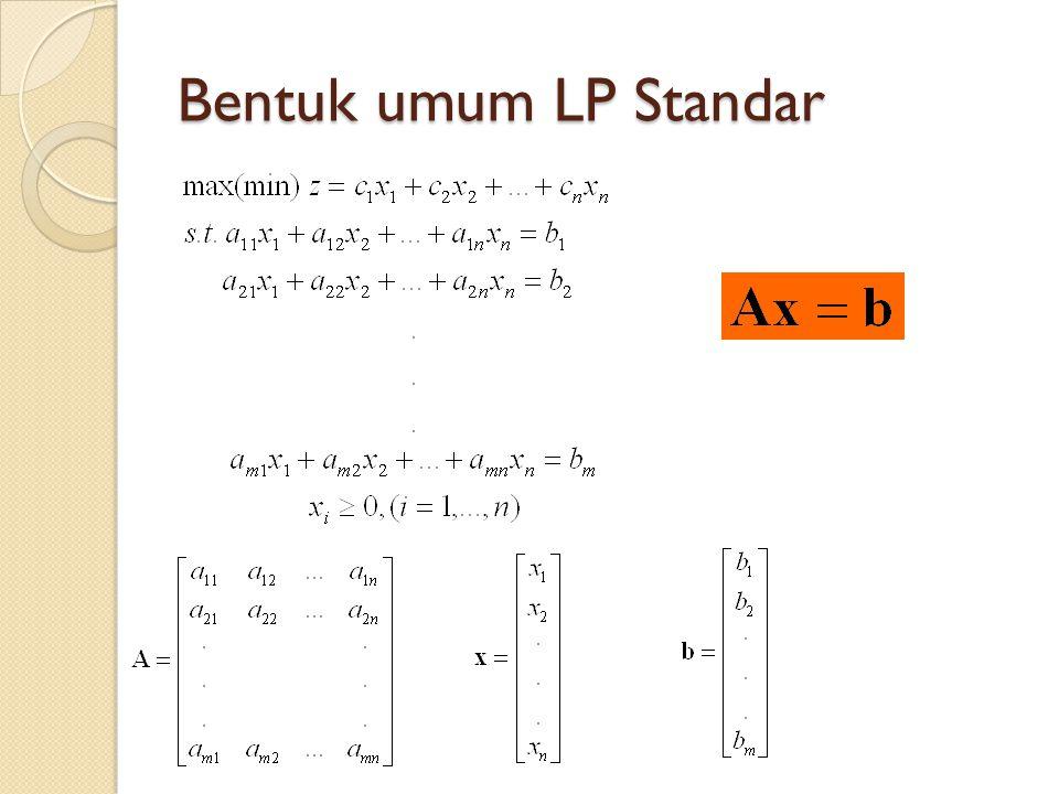 Bentuk umum LP Standar