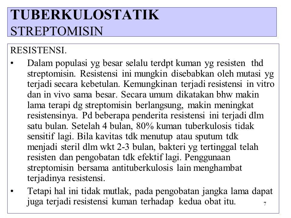 38 3.KLOFAZIMIN Klofazimin merupakan turunan fenazin yang efektif terhadap basil lepra.