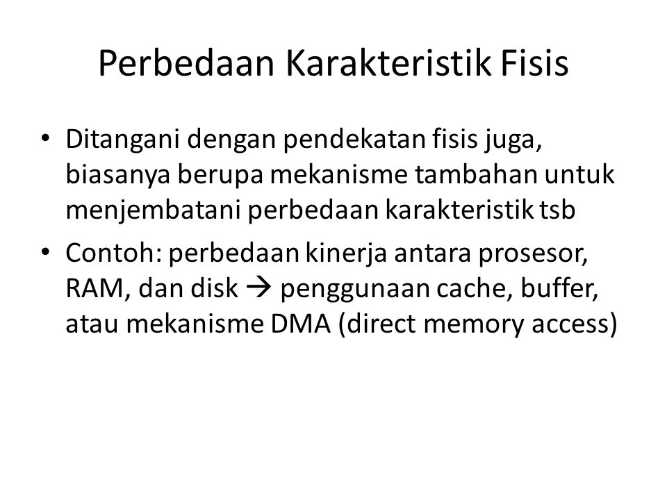 Contoh: DMA 1.The interface sends the DMA controller a request for DMA service.