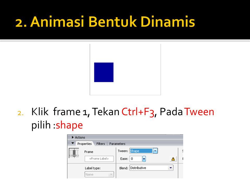 3. Klik Kanan frame 40, pilih Insert keyframe. 4. Sehingga menjadi tampilan berikut :