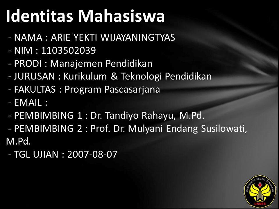 Judul PERAN TUTOR DALAM PEMBERDAYAAN WARGA BINAAN DI LEMBAGA PEMASYARAKATAN WANITA KELAS IIA (Studi Kasus pada LP Wanita Semarang)