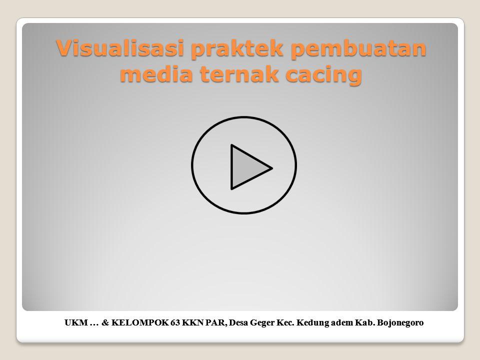 Visualisasi praktek pembuatan media ternak cacing UKM … & KELOMPOK 63 KKN PAR, Desa Geger Kec. Kedung adem Kab. Bojonegoro
