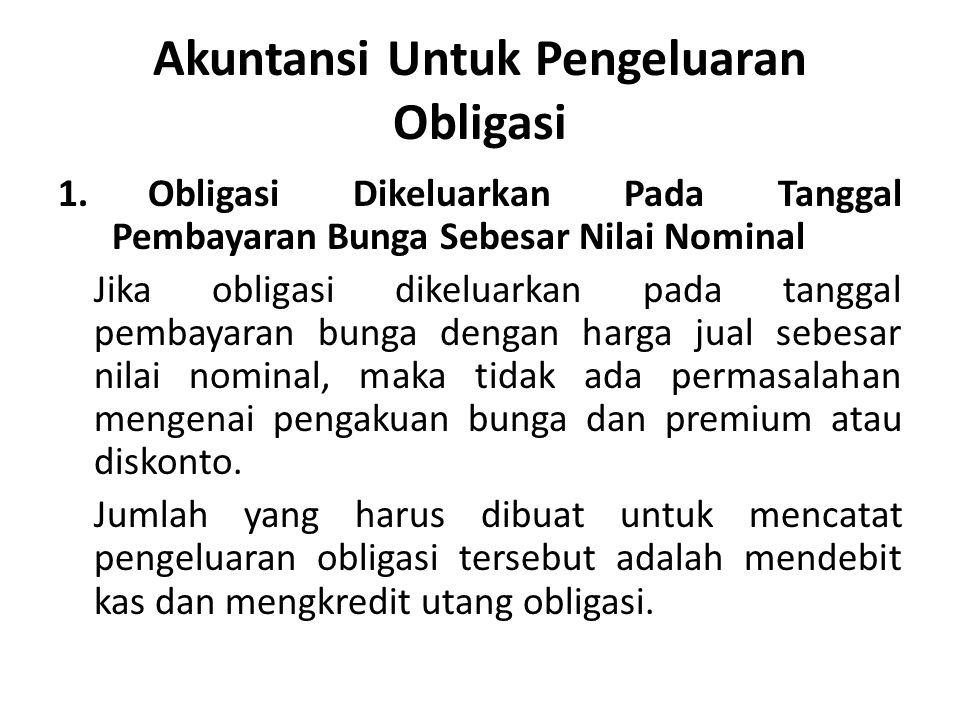 Akuntansi Untuk Pengeluaran Obligasi 1.