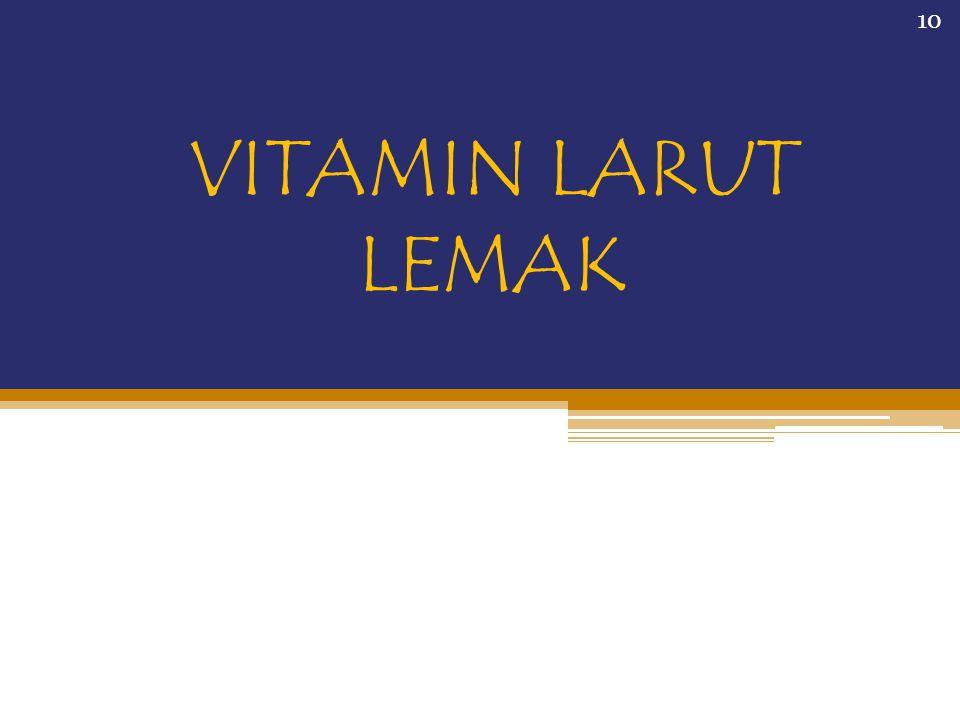 VITAMIN LARUT LEMAK 10