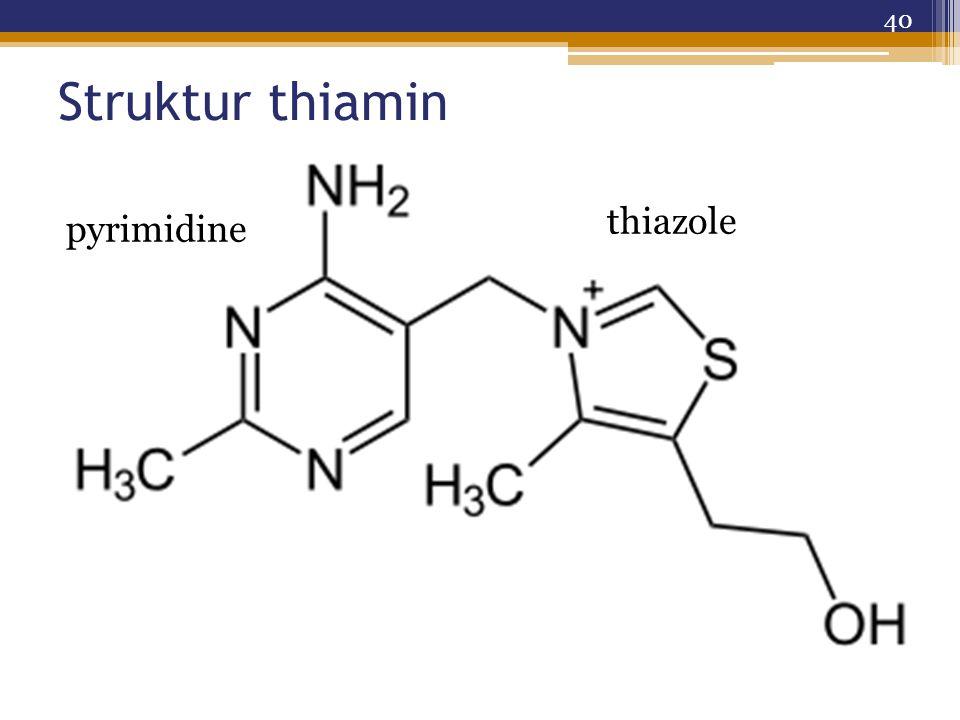 Struktur thiamin 40 pyrimidine thiazole