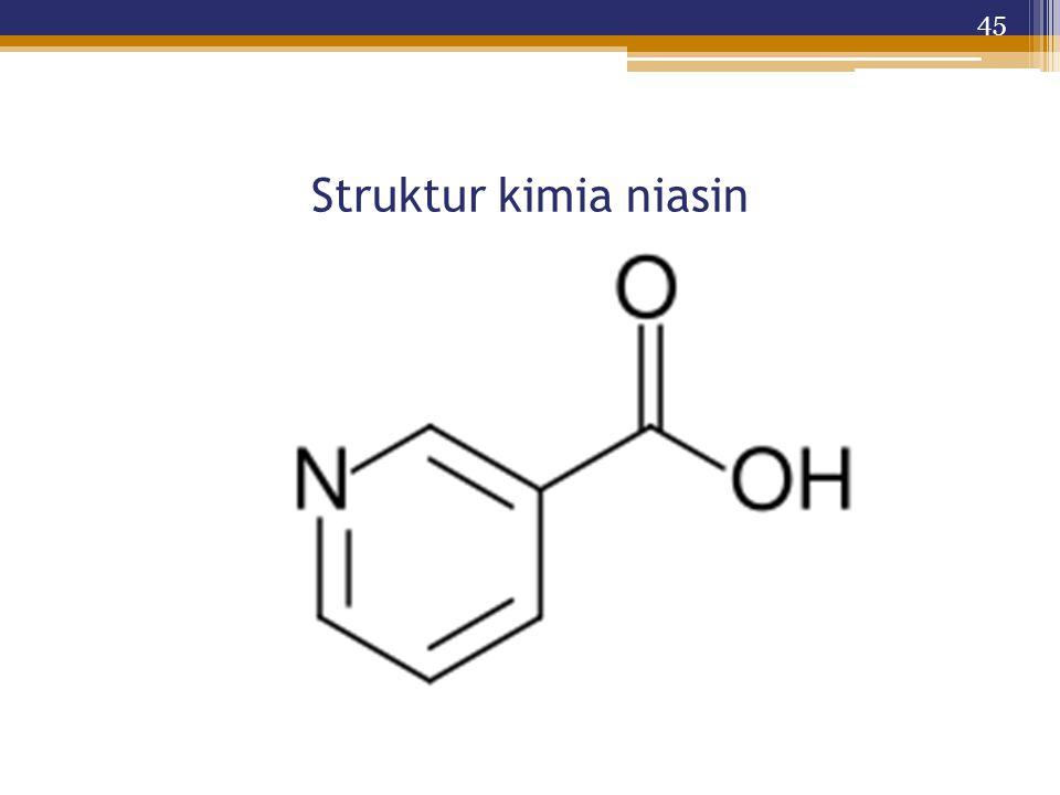 Struktur kimia niasin 45