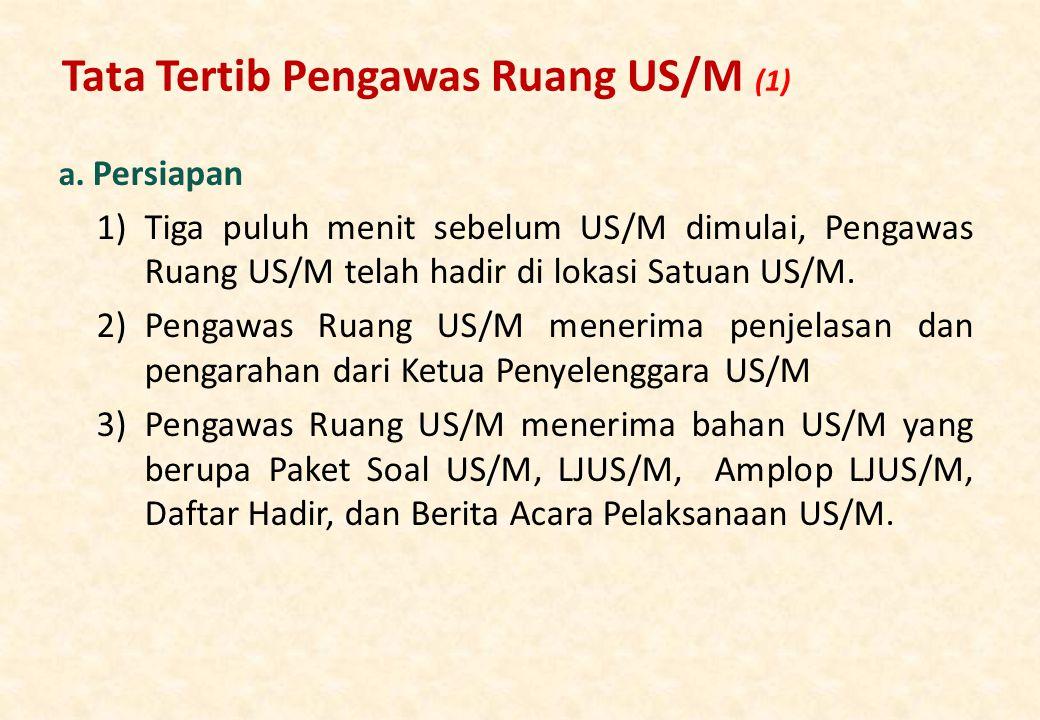 Tata Tertib Pengawas Ruang US/M (1) a.