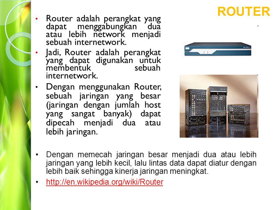 Pada gambar dibawah ini, Bridge (Switch) menjadi jembatan penghubung antara dua segmen jaringan yang masing-masing segmennya dibentuk oleh sebuah Hub.
