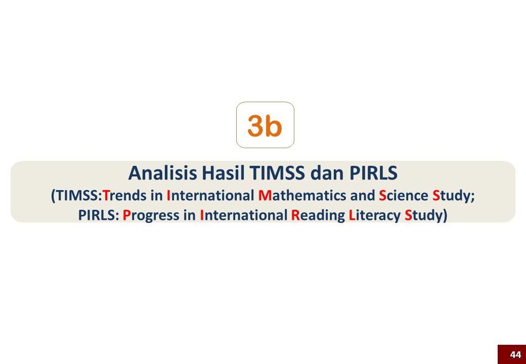 Analisis Hasil TIMSS dan PIRLS (TIMSS:Trends in International Mathematics and Science Study; PIRLS: Progress in International Reading Literacy Study) 3b 44