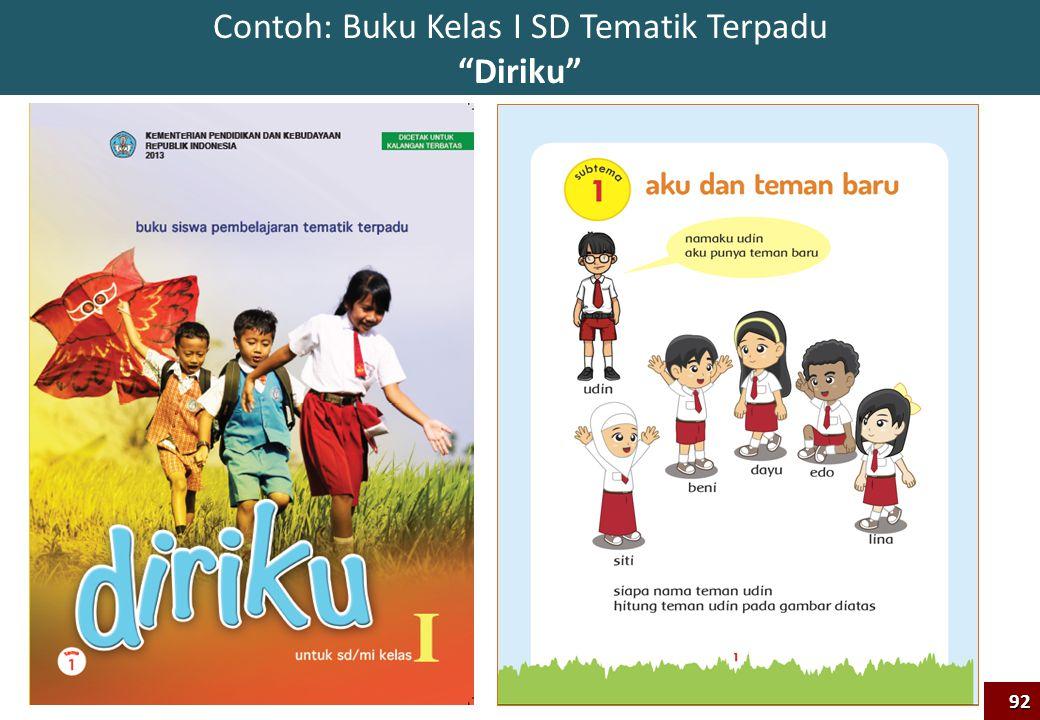 Contoh: Buku Kelas I SD Tematik Terpadu Diriku 92