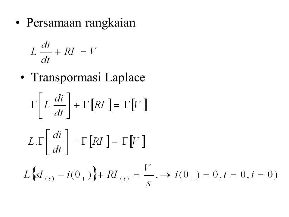 Persamaan rangkaian Transpormasi Laplace