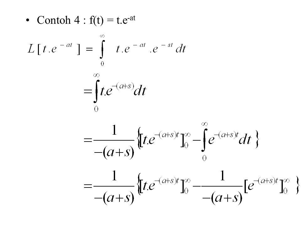 Contoh 4 : f(t) = t.e -at