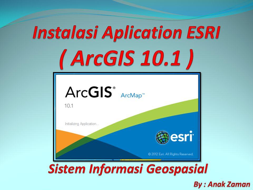 1.Buka File master ArcGIS Desktop 10.1 2.
