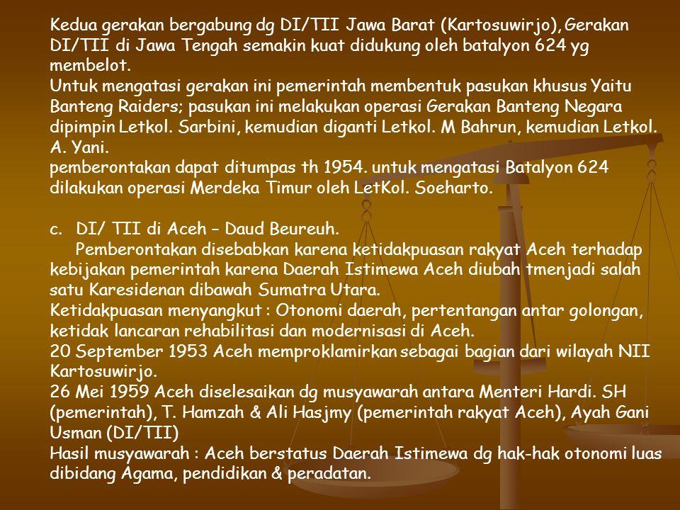 Untuk menumpas PKI pemerintah membentuk Komando Operasi dipimpin Kol. A.H Nasution ( Panglima Markas Besar Komando Djawa ). Dalam operasi penumpasan M