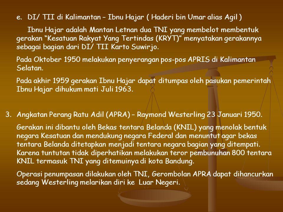 penyelesaian masalah Daud Beureuh diadakan Musyawarah Kerukunan Rakyat Aceh 17 – 21 Desember 1962; menghasilkan keputusan pemberian Amnesti jika berse