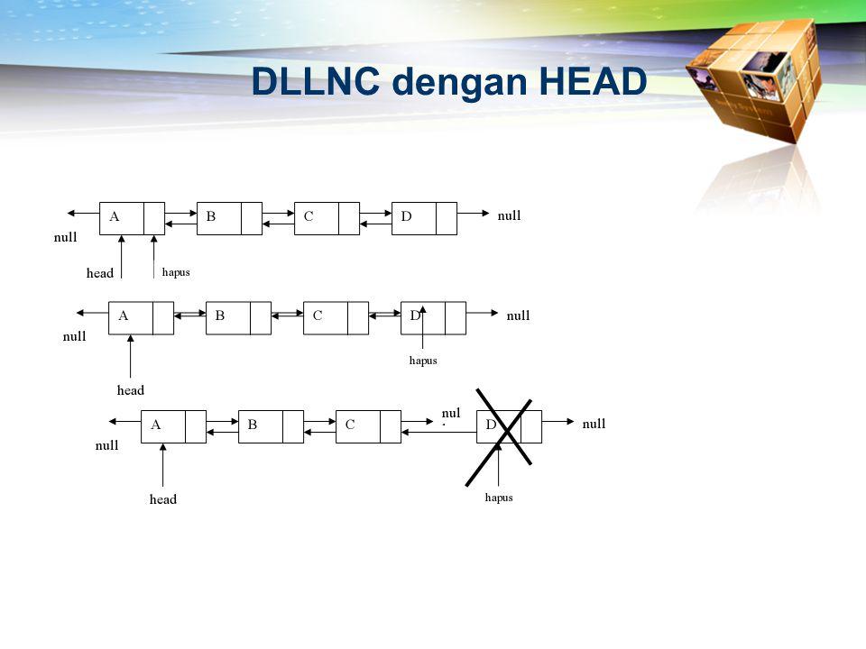 DLLNC dengan HEAD