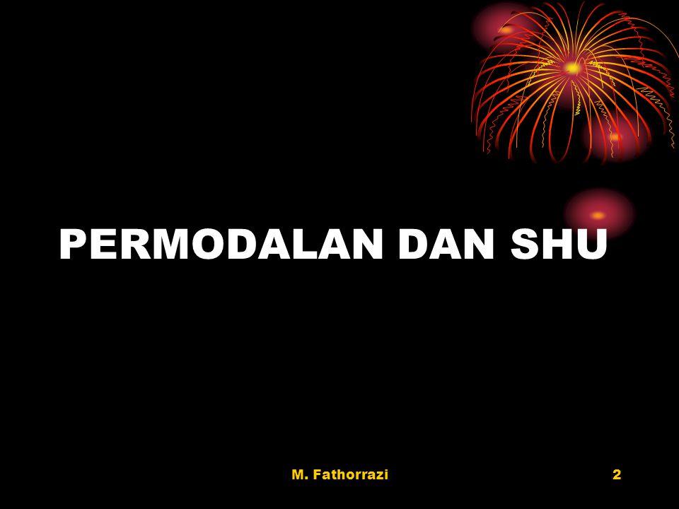 M. Fathorrazi2 PERMODALAN DAN SHU