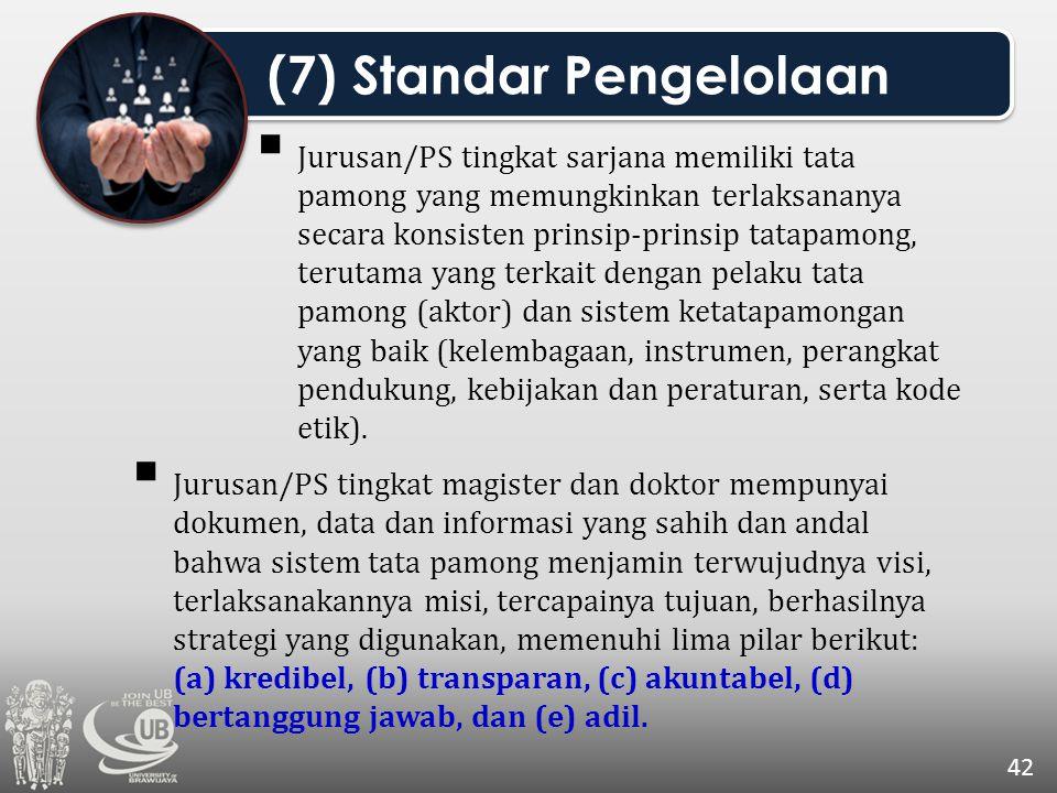  Jurusan/PS tingkat sarjana memiliki tata pamong yang memungkinkan terlaksananya secara konsisten prinsip-prinsip tatapamong, terutama yang terkait d