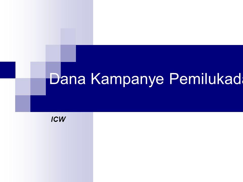 Dana Kampanye Pemilukada ICW