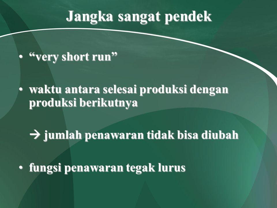 """Jangka sangat pendek """"very short run""""""""very short run"""" waktu antara selesai produksi dengan produksi berikutnyawaktu antara selesai produksi dengan pro"""